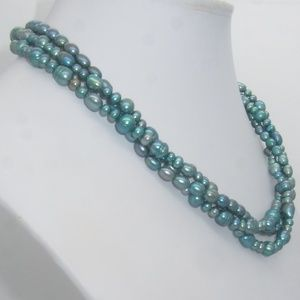 Honora Teal Multi Strand Necklace